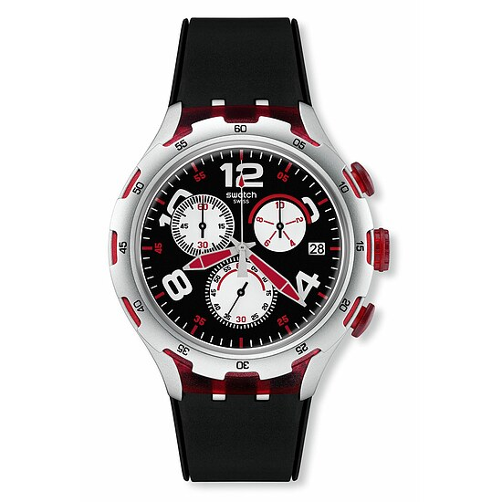 Swatch Uhr YYS4004 Irony Chrono Xlite Red Wheel