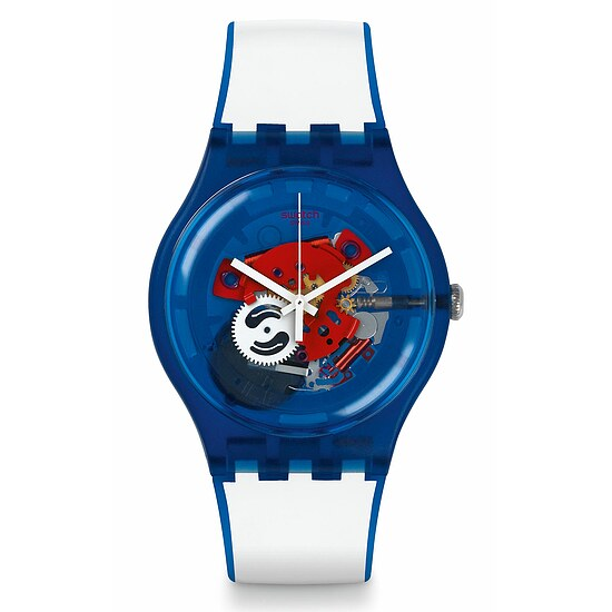 Swatch Uhr SUON112 RED WHITE & BLUE New Gent Clownfish Blue