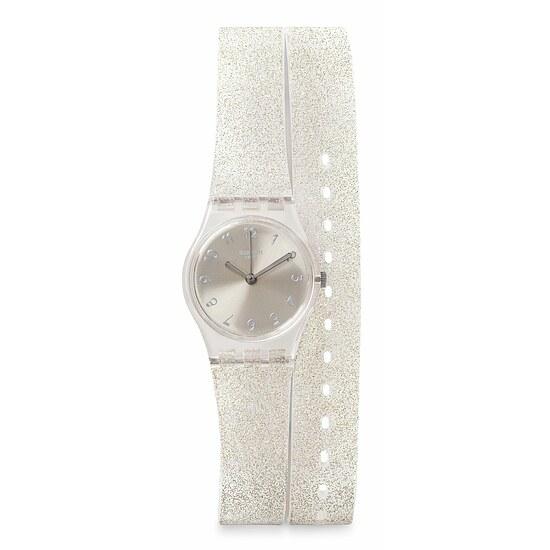 Swatch Uhr LK343 SPRING BREEZE Original Lady Silver Glistar