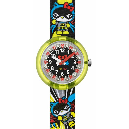 Flik Flak Uhren FLNP016 Girl Kinderuhr Pre-School (5+) DC Hello Kitty Batgirl