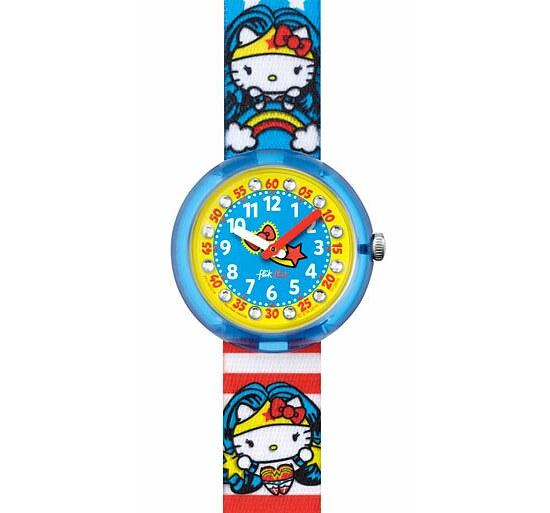 Flik Flak Uhren FLNP017 Girl Kinderuhr Pre-School (5+) DC Hello Kitty Supergirl