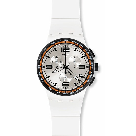 Swatch Uhr SUSW405  TECH MODE Chrono White Blades