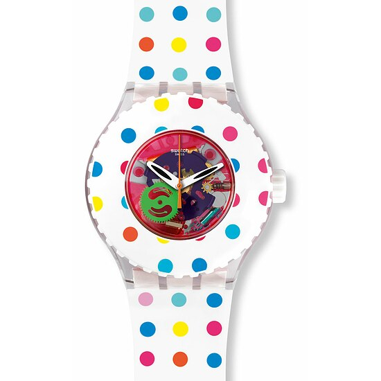 Swatch Uhr SUUK108 SPORT MIXER Scuba Libre Happy Dots
