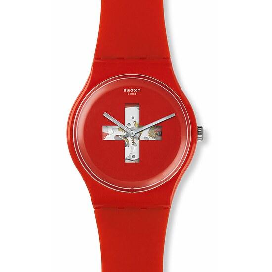 Swatch Uhr SUOR106 GRÜEZI ALL New Gent Swiss around the clock