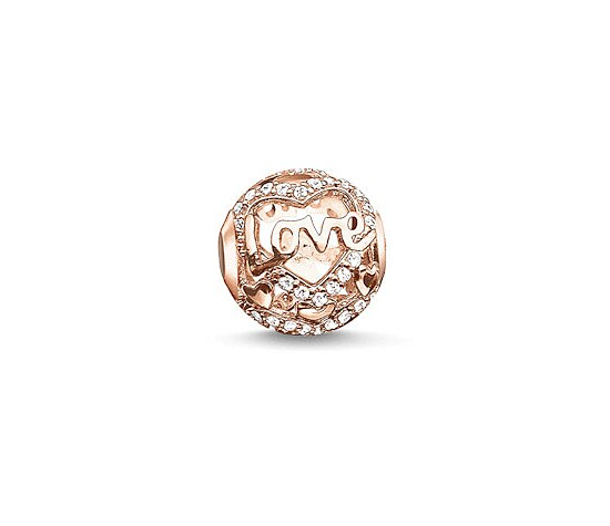 Thomas Sabo K0176-416-14 KARMA BEADS Silver Bead Heart of love rosé