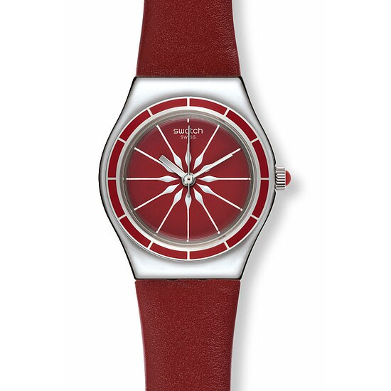 Swatch Uhr YSS292 EXOTIC CHARM Irony Lady Sternenrot