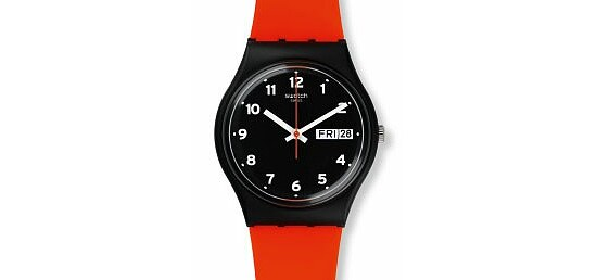Swatch Uhr GB754 POWER TRACKING Gent Red Grin