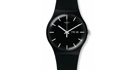 Swatch Uhr SUOB720 POWER TRACKING New Gent Mono Black