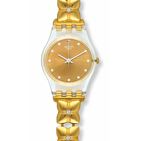 Swatch Uhr LK358G FLORALIA Original Lady Golden Keeper