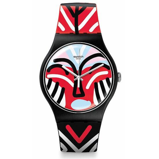 Swatch Uhr SUOB127 AFRICANA New Gent Mask Parade