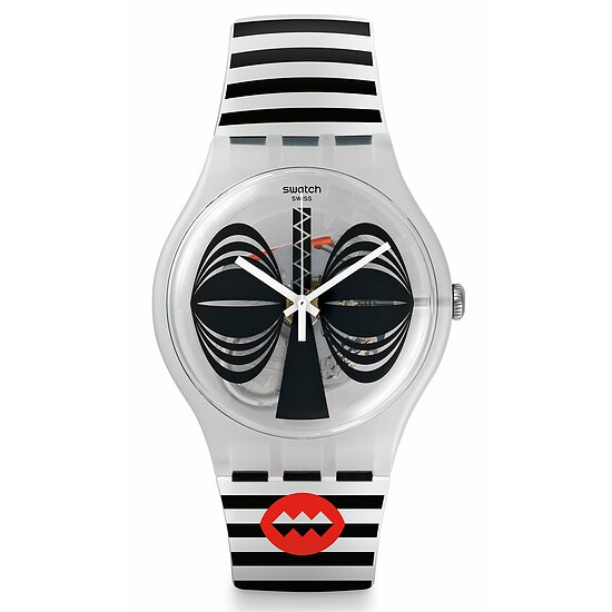 Swatch Uhr SUOW122 AFRICANA New Gent Maskara