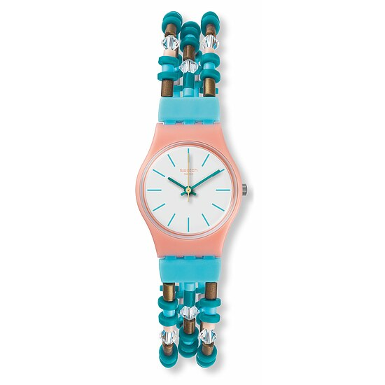 Swatch Uhr LP142 B BEACH SWING Original Lady Beadaround