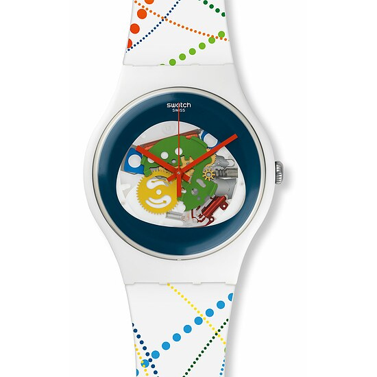 Swatch Uhr SUOW128 OLYMPIC SPIRIT New Gent Dots in Rio
