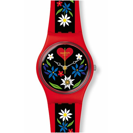 Swatch Uhr LR129 GRÜEZI ALL Original Lady Roetli