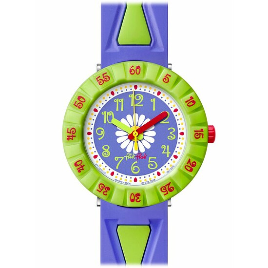 Flik Flak Uhren-Serie FCSP035 FUNNY HOURS Kinderuhr Power Time Girls (7+) Purple Flower