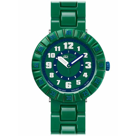 Flik Flak Uhren-Serie FCSP039 FUNNY HOURS Kinderuhr Power Time Boys (7+) Seriously Green