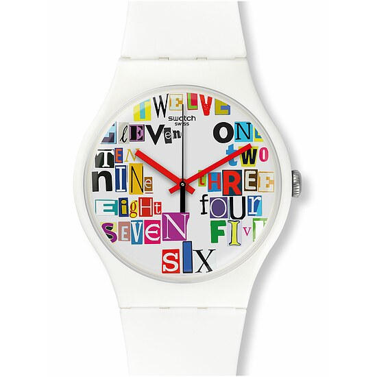 Swatch Uhr SUOW132 VOICE OF FREEDOM  New Gent Multi Collage