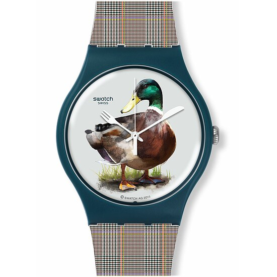 Swatch Uhr SUON118 MAGIES D'HIVER New Gent Duck-Issime