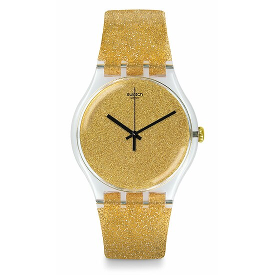 Swatch Uhr SUOK122 LOOK FAB New Gent Nuit Doree