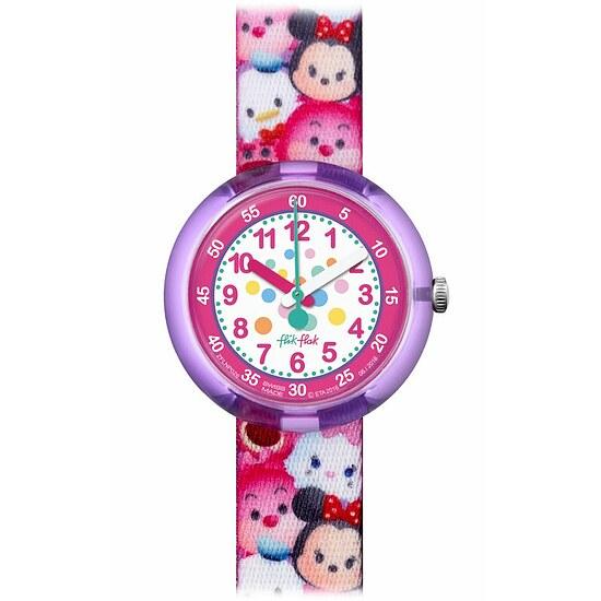 Flik Flak Uhren-Serie FLNP026 FUNNY HOURS Girl Kinderuhr Friends & Heroes (5+) Disney Tsum Tsum