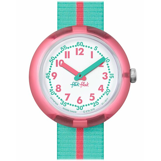 Flik Flak Uhren-Serie FPNP020 SUNNY HOURS - COLOR BLOCK Kinderuhr Friends & Heroes Girls (5+) Pink Band