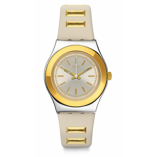 Swatch Uhr YLS195 A TRAVELER'S DREAM Irony Medium Golden Steps