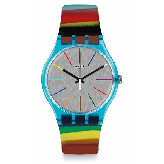 Swatch Uhr SUOS106 MOSAICI & MORE New Gent Colorbrush