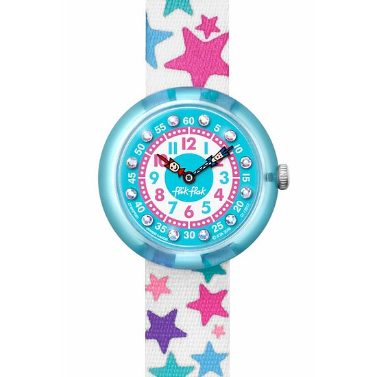 Flik Flak Uhren-Serie FBNP081 SUNNY HOURS - BIRTHDAY PARTY Kinderuhr Story Time Girls (3+) Tähtila kristallverziert