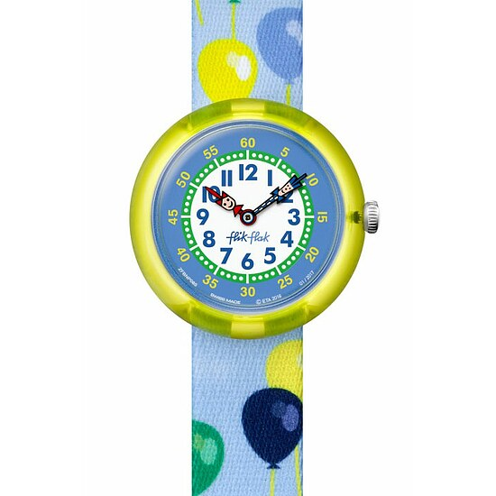 Flik Flak Uhren-Serie FBNP085 SUNNY HOURS - BIRTHDAY PARTY Kinderuhr Story Time Boys (3+) Ballolou