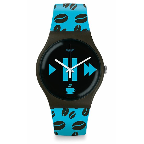 Swatch Uhr SUOC106 SPICY ISLANDS New Gent Coffee Blue-S