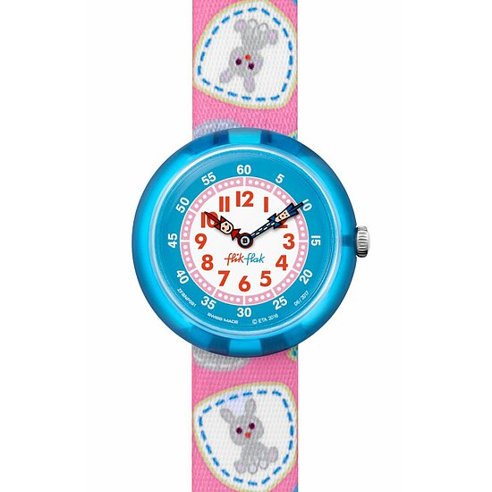 Flik Flak Uhren-Serie FBNP091 GREAT CAMPING Kinderuhr Story Time Girls (3+) Camping Badge Pink