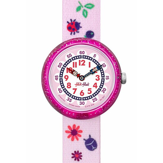 Flik Flak Uhren-Serie FBNP093 GREAT CAMPING Kinderuhr Story Time Girls (3+) Autumn Colors