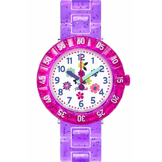 Flik Flak Uhren-Serie FCSP060 GREAT CAMPING Kinderuhr Power Time Girls (7+) Purple Garden