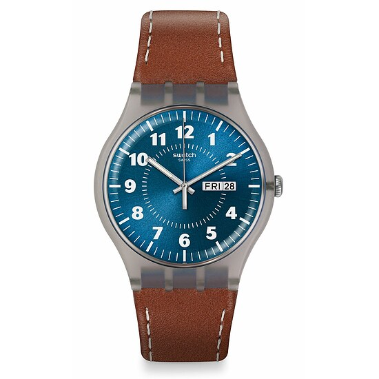 Swatch Uhr SUOK709 SPRING BREEZE New Gent Vent Brulant