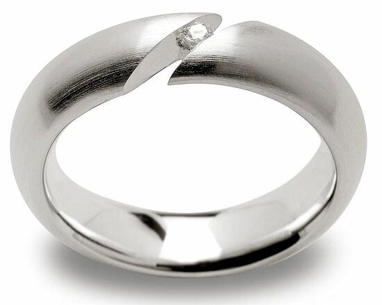 Bastian  1601741001 Inverun Silber mattiert Ring Diamant