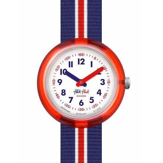 Flik Flak Uhren-Serie FPNP026 PLAY IT Kinderuhr Power Time (5+) Red Band