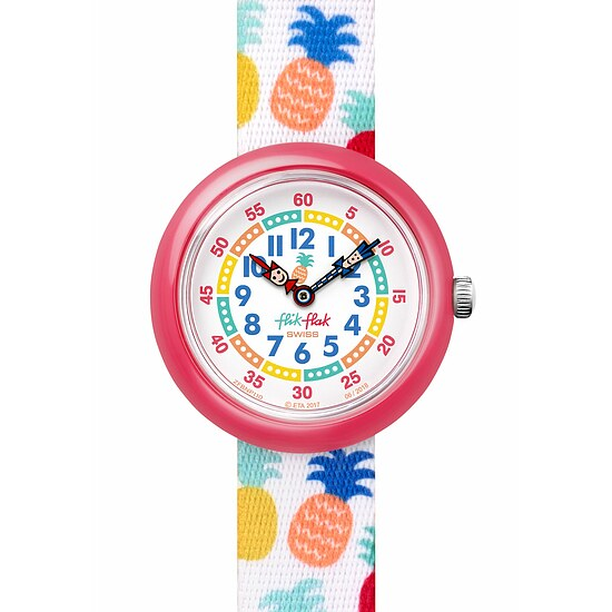 Flik Flak Uhren-Serie FBNP110 TROPICAL Kinderuhr Story Time Girls (3+) Nananas