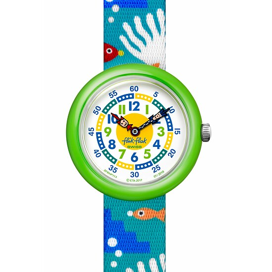 Flik Flak Uhren-Serie FBNP113 TROPICAL Kinderuhr Story Time (3+) Fish´n Reef