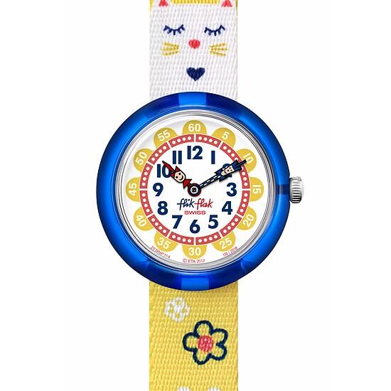 Flik Flak Uhren-Serie FBNP114 COLOR EXPLOSION Kinderuhr Story Time Girls (3+) Jumping Cat