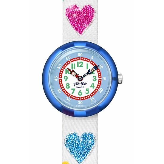 Flik Flak Uhren-Serie FBNP116 COLOR EXPLOSION Kinderuhr Story Time Girls (3+) Love my Heart