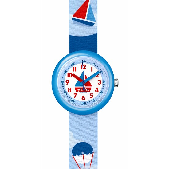Flik Flak Uhren-Serie FPNP028 COLOR EXPLOSION Kinderuhr Power Time (5+) Sea Friends