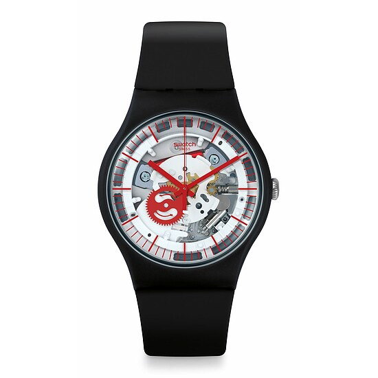 Swatch Uhr SUOB153 THINK FUN New Gent Siliblack
