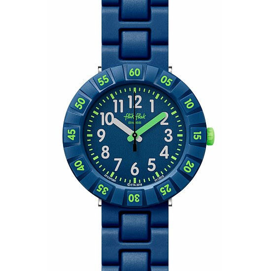 Flik Flak Uhren-Serie FCSP086 COLOR BLAST Kinderuhr Power Time (7+) Solo Dark Blue
