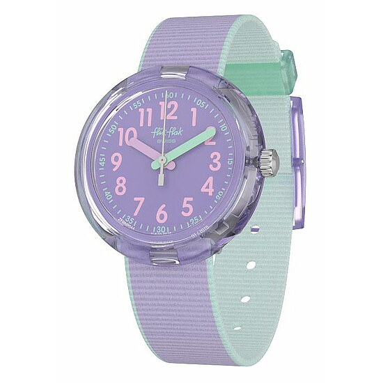 Flik Flak Uhren-Serie FPNP044 COLOR BLAST Kinderuhr Power Time (5+) Color Blast Lilac
