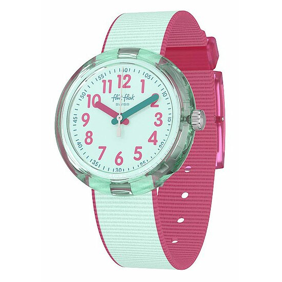 Flik Flak Uhren-Serie FPNP046 COLOR BLAST Kinderuhr Power Time (5+) Color Blast Turquoise