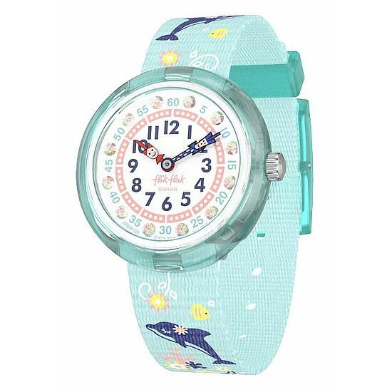 Flik Flak Uhren-Serie FBNP124 TIKI ISLAND Kinderuhr Story Time Girls (3+) Sweet Dolphin kristallverziert
