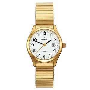 Dugena Bari Zugband aus der Uhrenserie Basic Damenarmbanduhr 4460758 Zugband