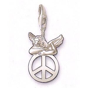 Thomas Sabo CC 0625 Anhänger Engel auf Peacezeichen CHARM CLUB