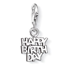 Thomas Sabo CC 0883 Anhänger CHARM CLUB Tag HAPPY BIRTHDAY - 04883