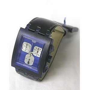Swatch Uhr Square Chrono SUEN 400C Midnight - 05702